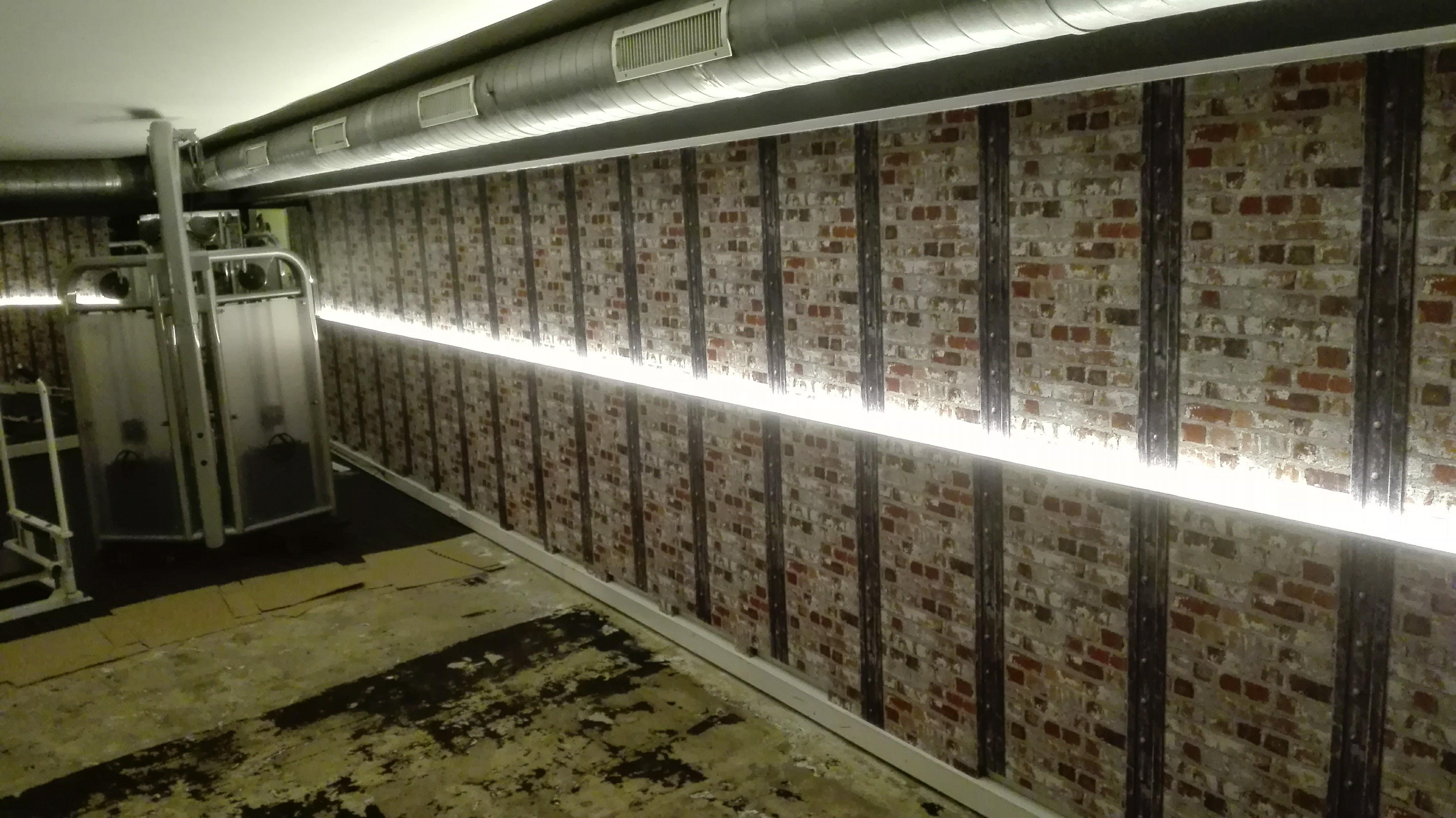 muur behangen fitnesscenter