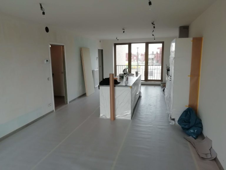 geverfde keuken en leefruimte