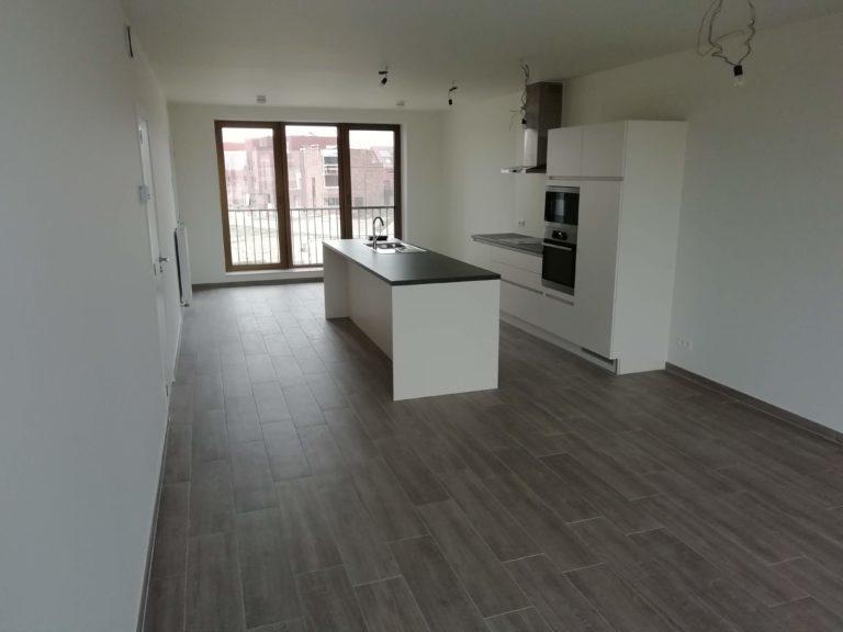 geverfde keuken en leefruimte afgewerkt